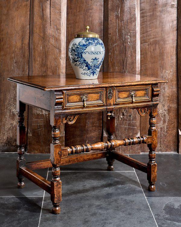 Charles II walnut side table