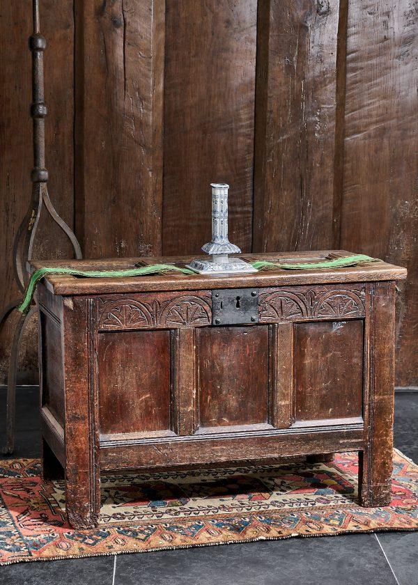 Charles I oak carved chest
