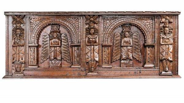 Elizabeth I oak carved overmantel
