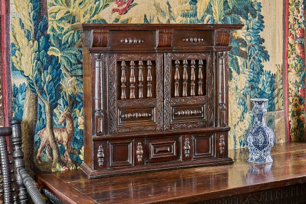 Charles I joined oak mural livery cupboard