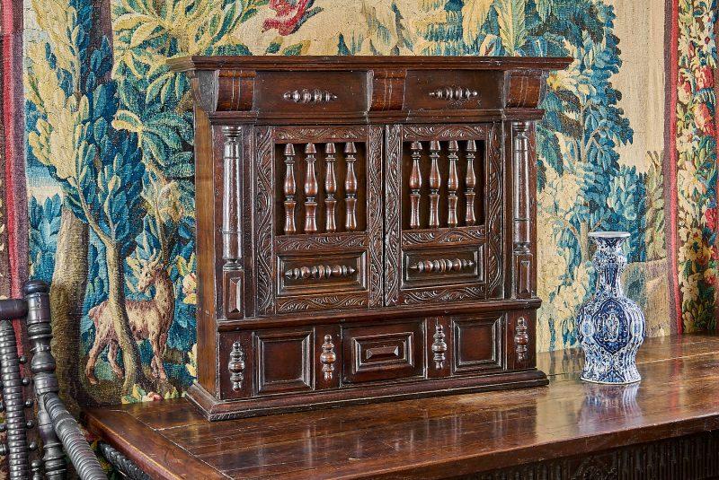Charles I joined oak mural livery cupboard