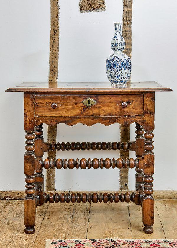 Charles II yew wood table