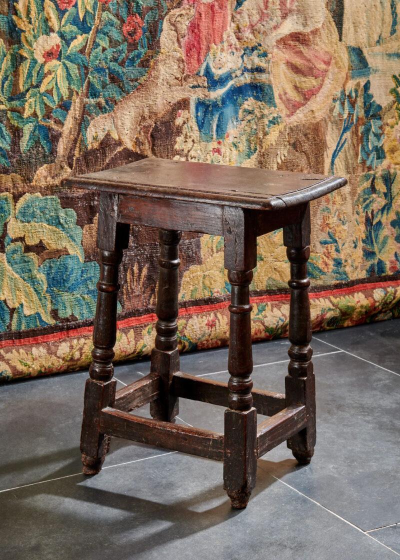 Charles II joined oak stool