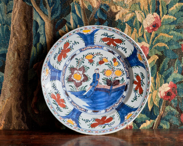 17th century Delft Chinese Charger