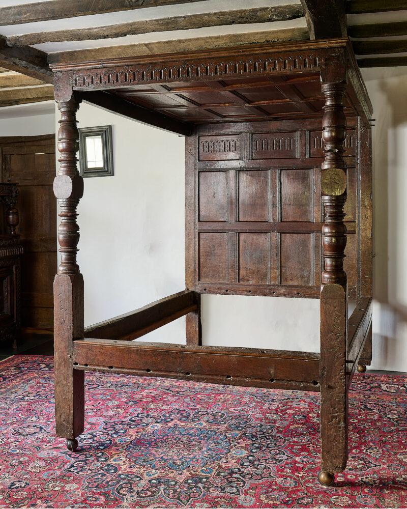 Charles I joined oak tester bed