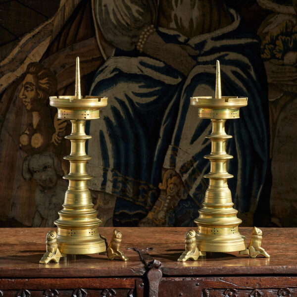 Late Gothic pricket candlesticks
