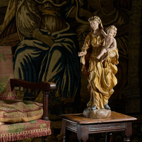 17th century carved Virgin and Child sculpture