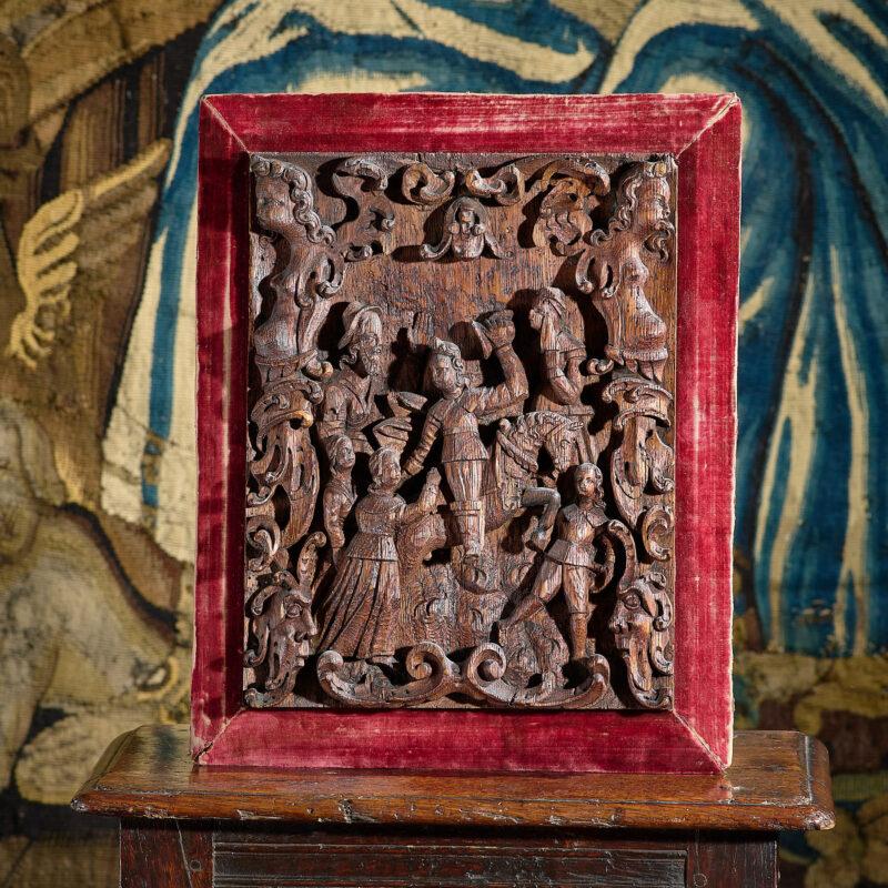 16th century carved renaissance panel