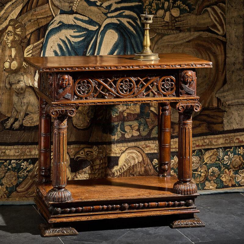 Elizabeth I oak and yew wood cup-board