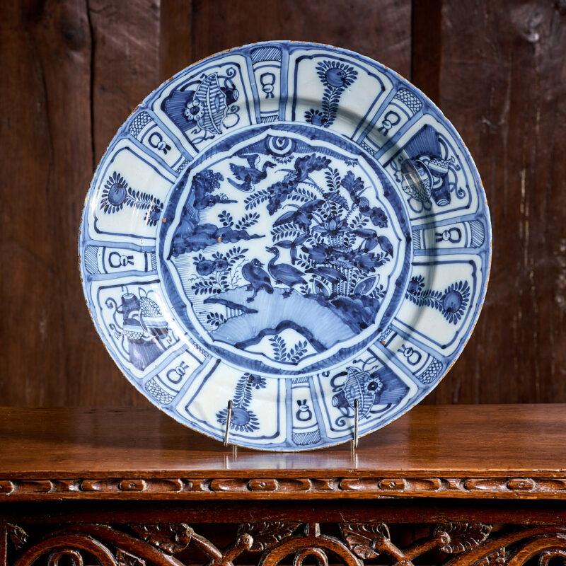 17th century Kraak Delftware plate
