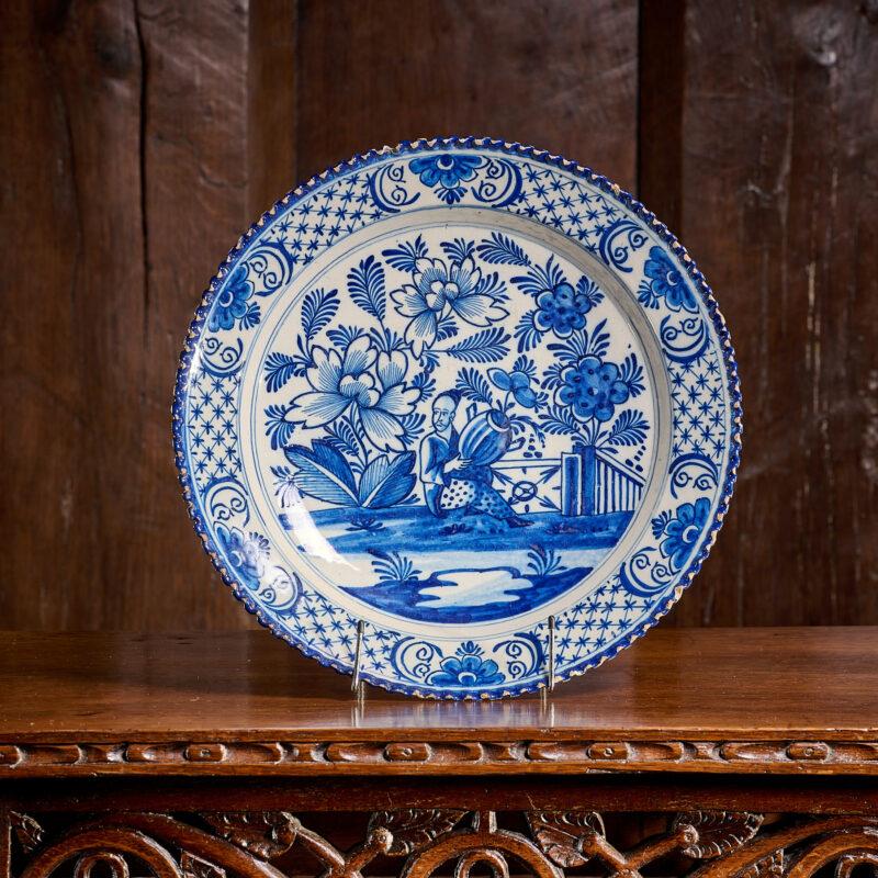 18th century Liverpool Delftware plate