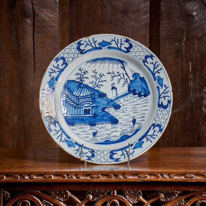 17th century London Delftware plate