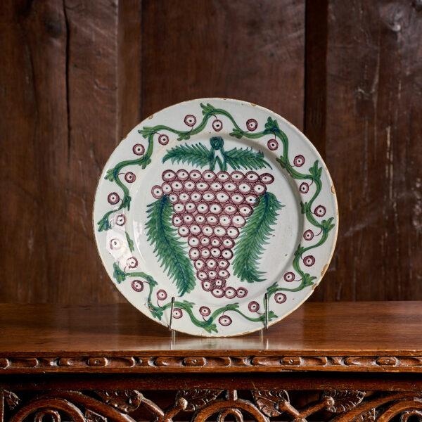 Bristol Delftware plate 17th century