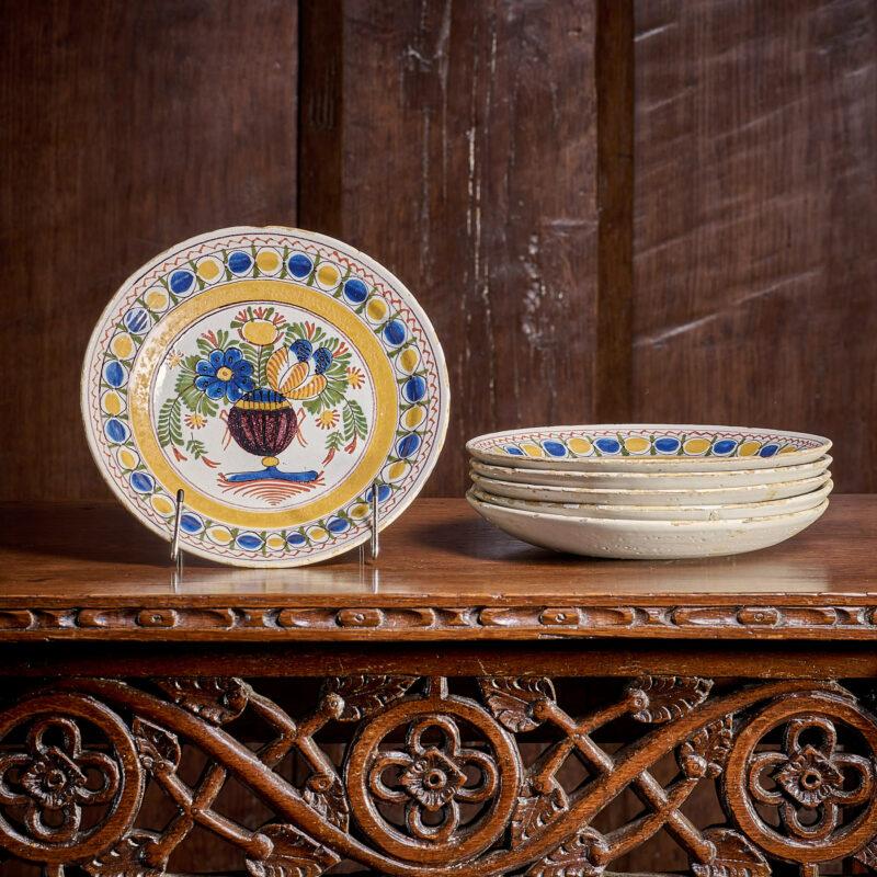 18th century London Delftware plates