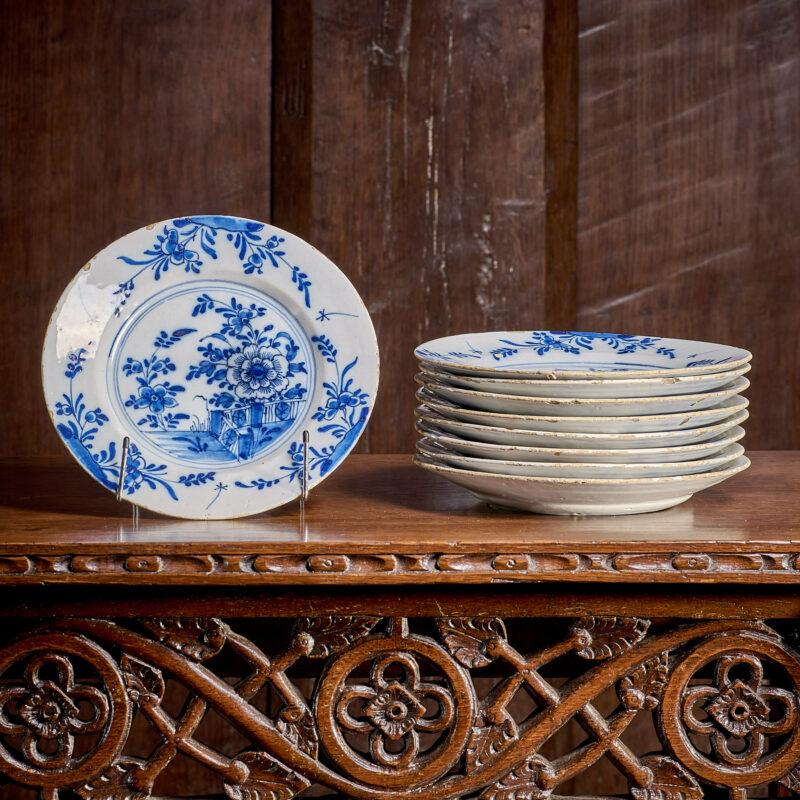 Bristol Delftware plates 18th century
