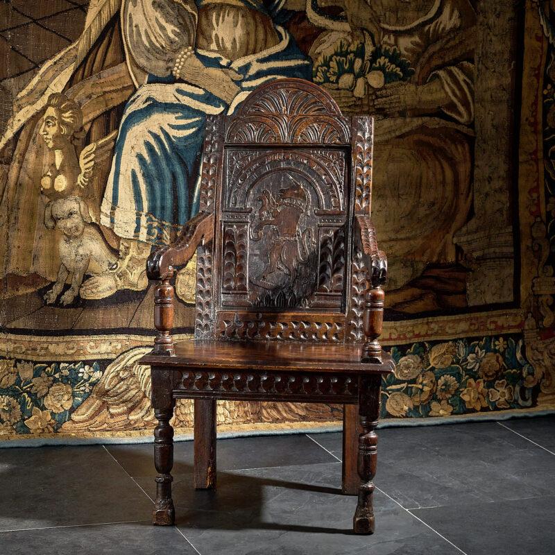 James I Salisbury joined oak armchair