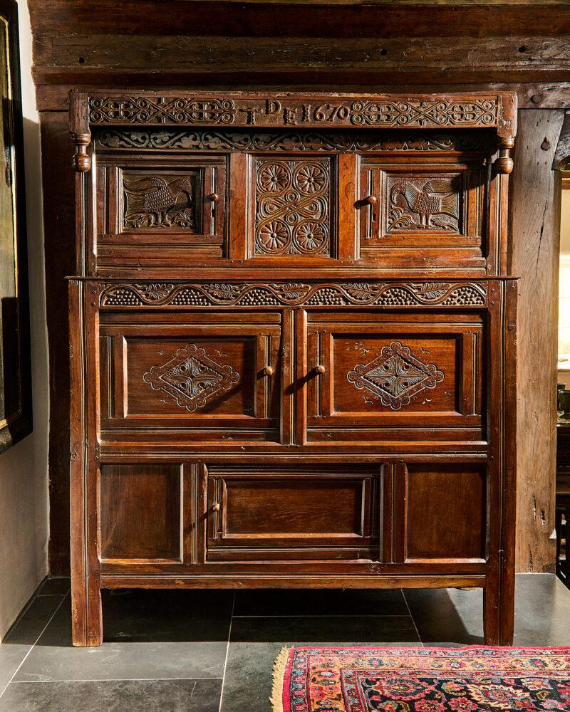 Charles II Westmoreland press cupboard