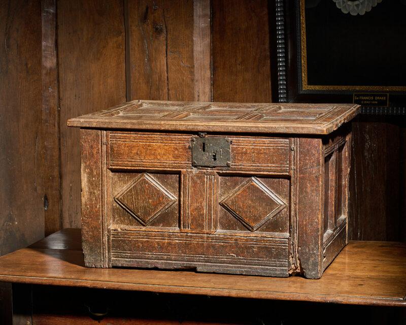 James I oak table box
