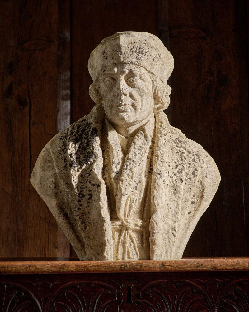 18th century historicizing marble Tudor bust