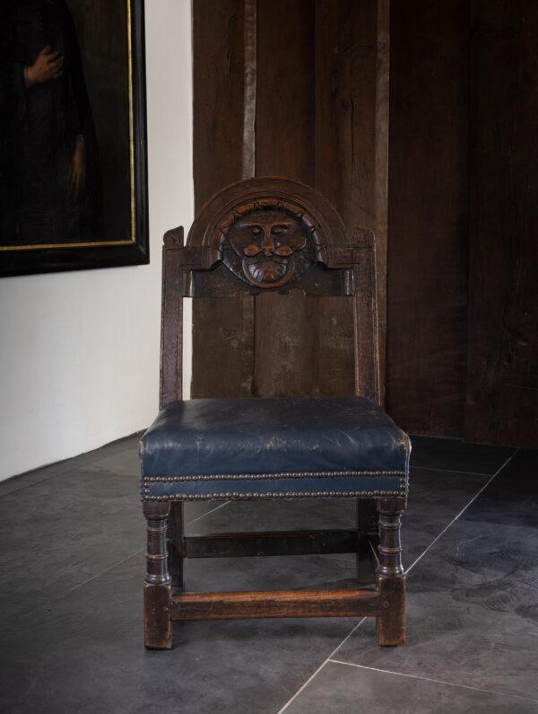 James I upholstered backstool
