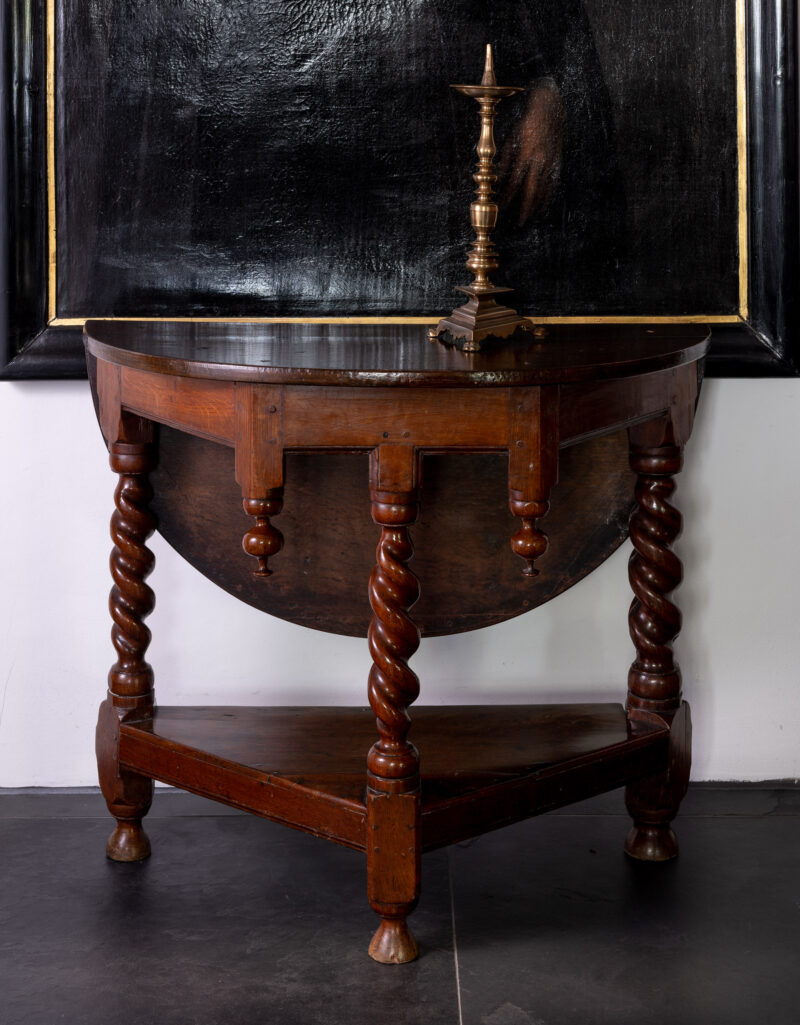 Charles II oak folding table