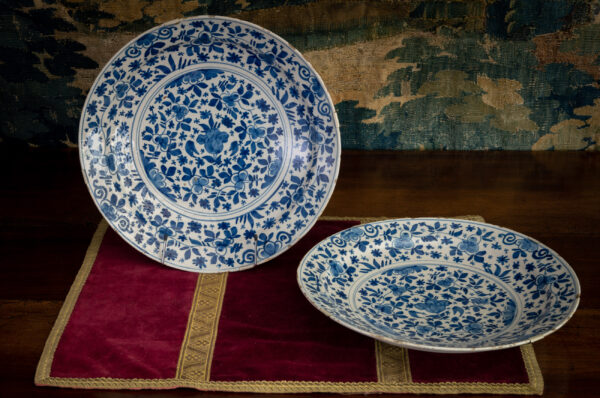 Pair of Delft chargers