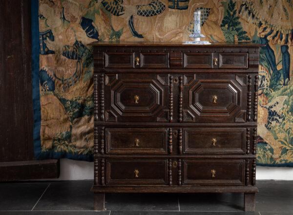 Charles II oak chest of drawers