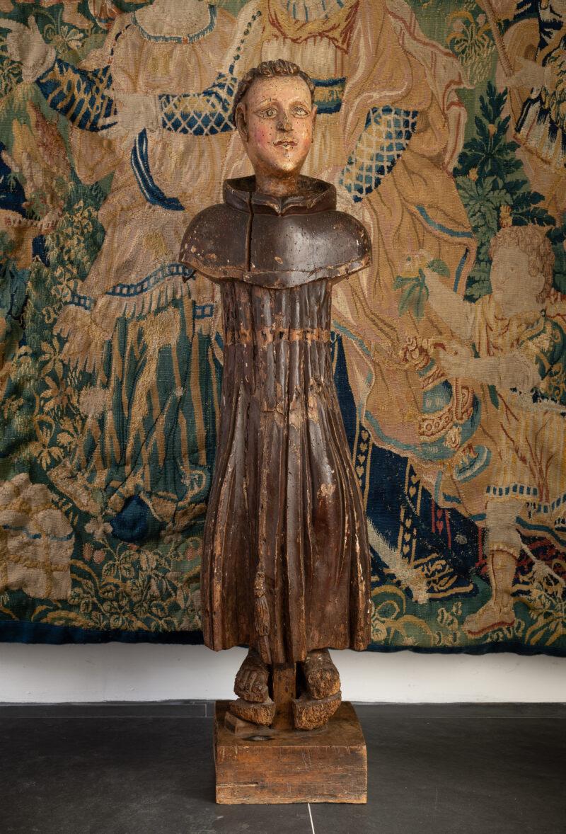 Renaissance sculpture of a monk