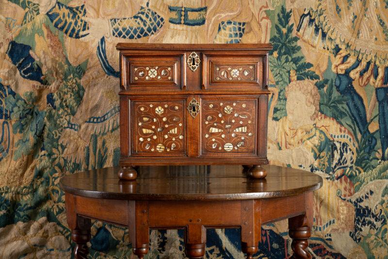 Charles I walnut table cabinet