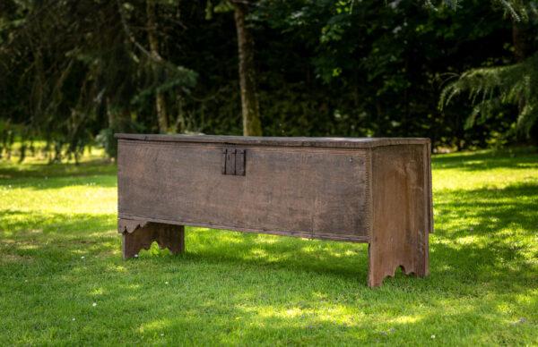 Henry VIII oak boarded chest