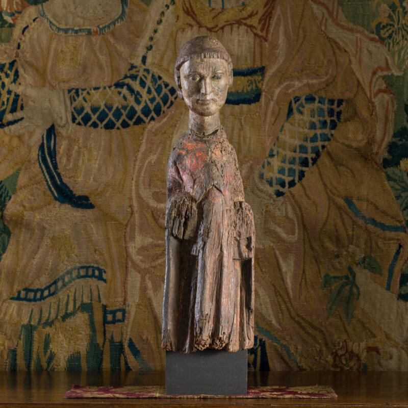 Romanesque oak sculpture