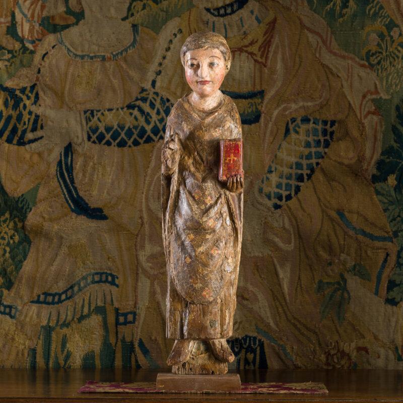 Medieval pine sculpture