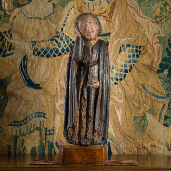 Medieval sculpture of Mary