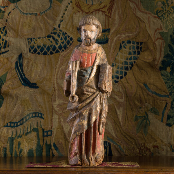 Gothic oak sculpture of St Peter