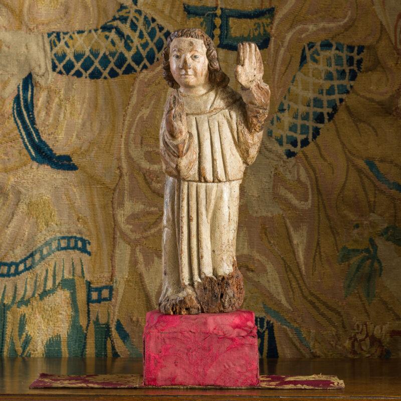 Henry VIII oak carved angel