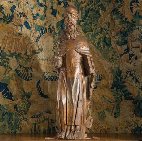 16th century Walnut sculpture St Anthony