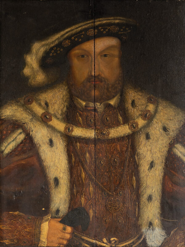 Portrait of Henry VIII oil on oak panel