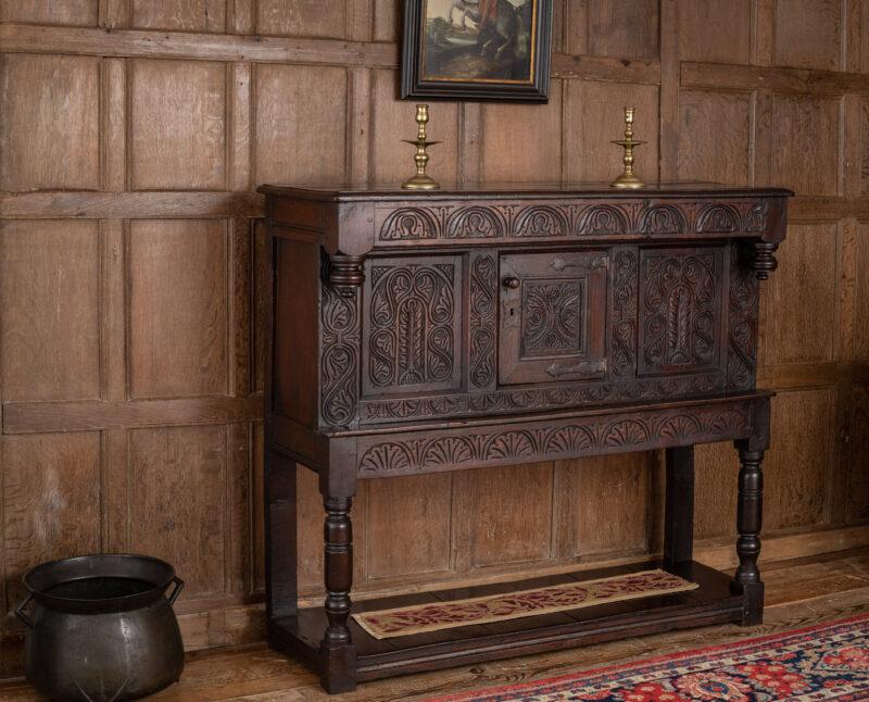 Charles II joined oak livery cupboard