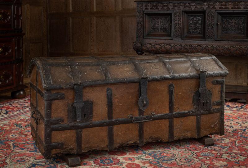 English medieval iron bound standard