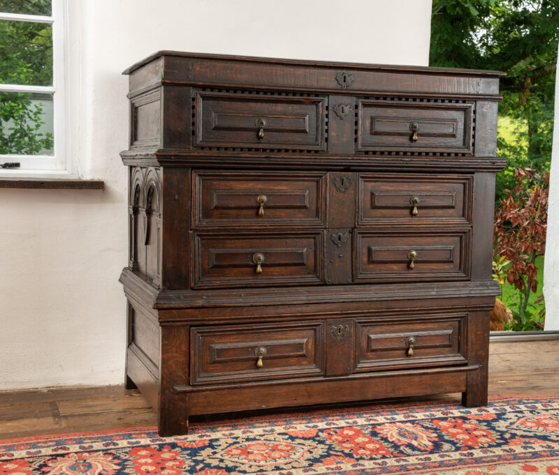 Charles I oak chest of drawers